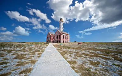 The Klein Curaçao lighthouse